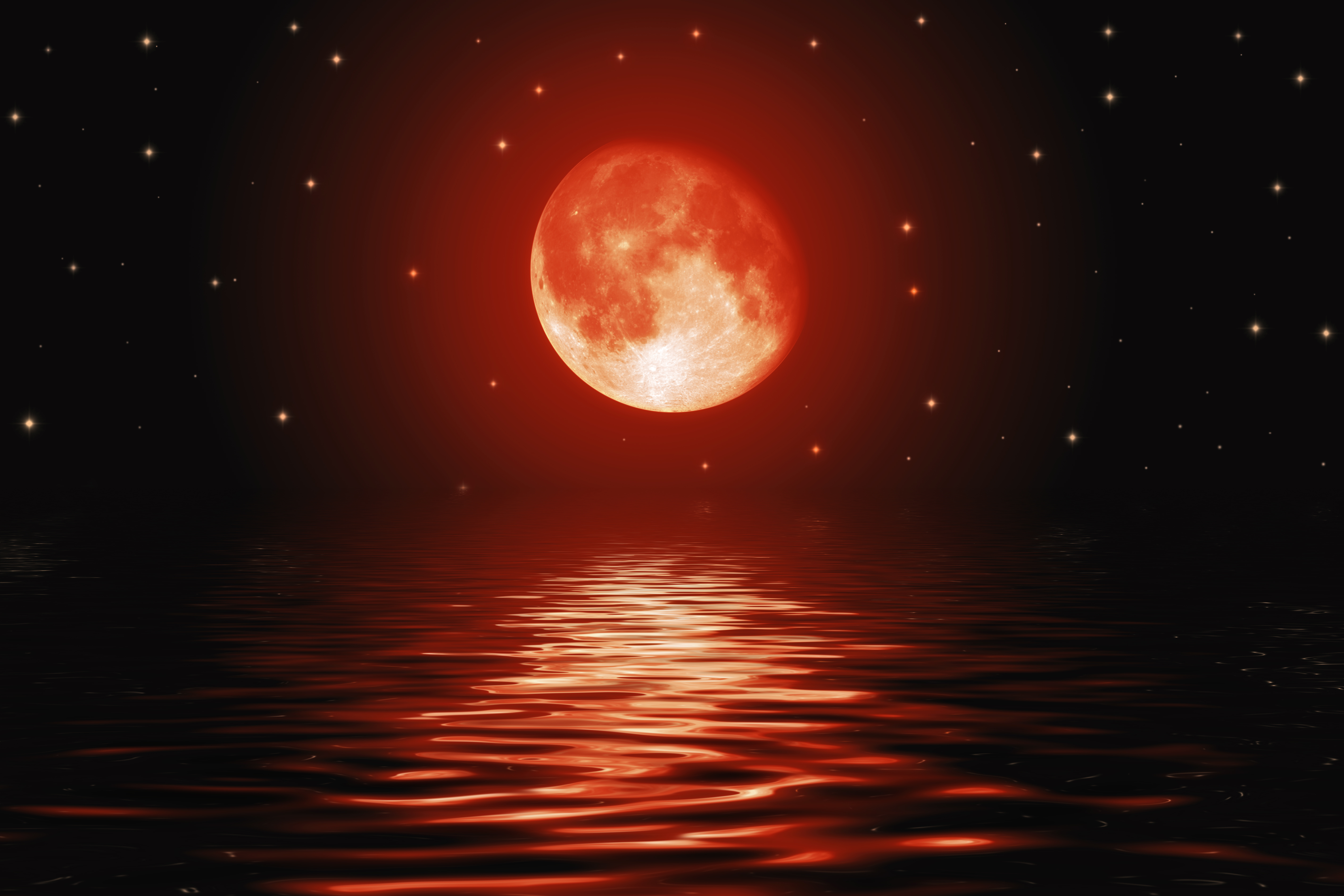 .Moon reflecting off the water with dolphins jumping ...   Full Moon Reflecting Off Water