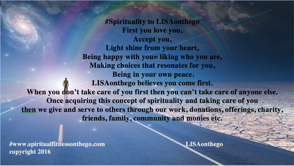 what is spirituality? LISAonthego