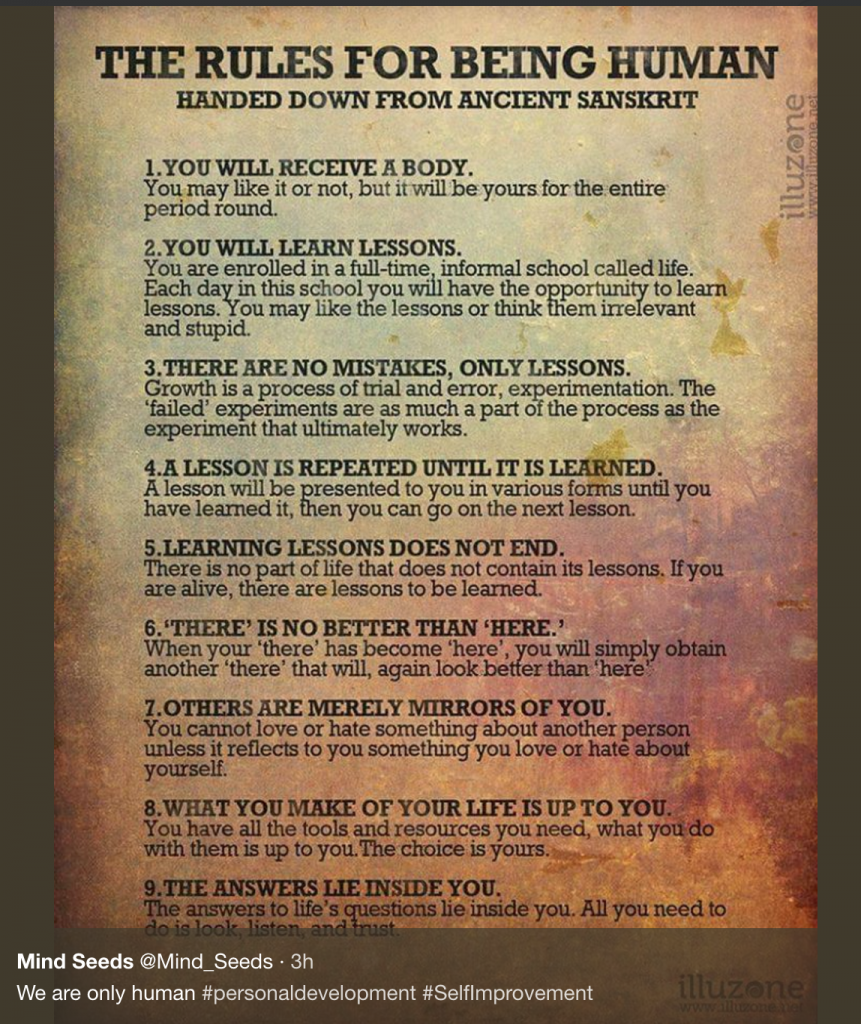 rules for being human
