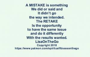 Mistake, Retake LisaOnTheGo Blog