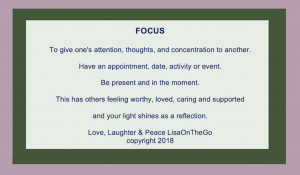 focus quote, LisaOnTheGo Blogger